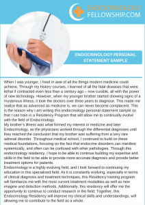 endocrinology personal statement sample